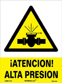 Señal antencion alta presion