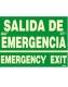 Señal Salida de emergencia español/ingles